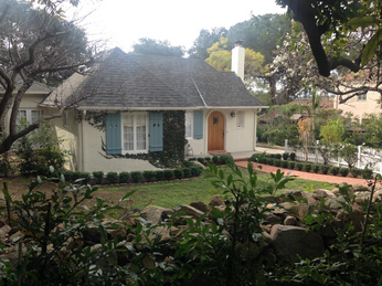 Hoffman's home on Glendessary Lane in Santa Barbara