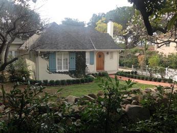 Hoffman's home on Glendessary Lane in Santa Barbara