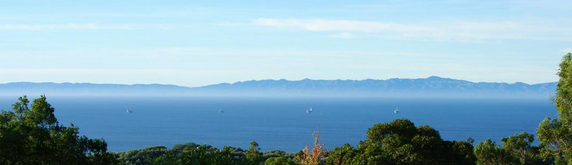 View of the Channel Islands from Santa Barbara