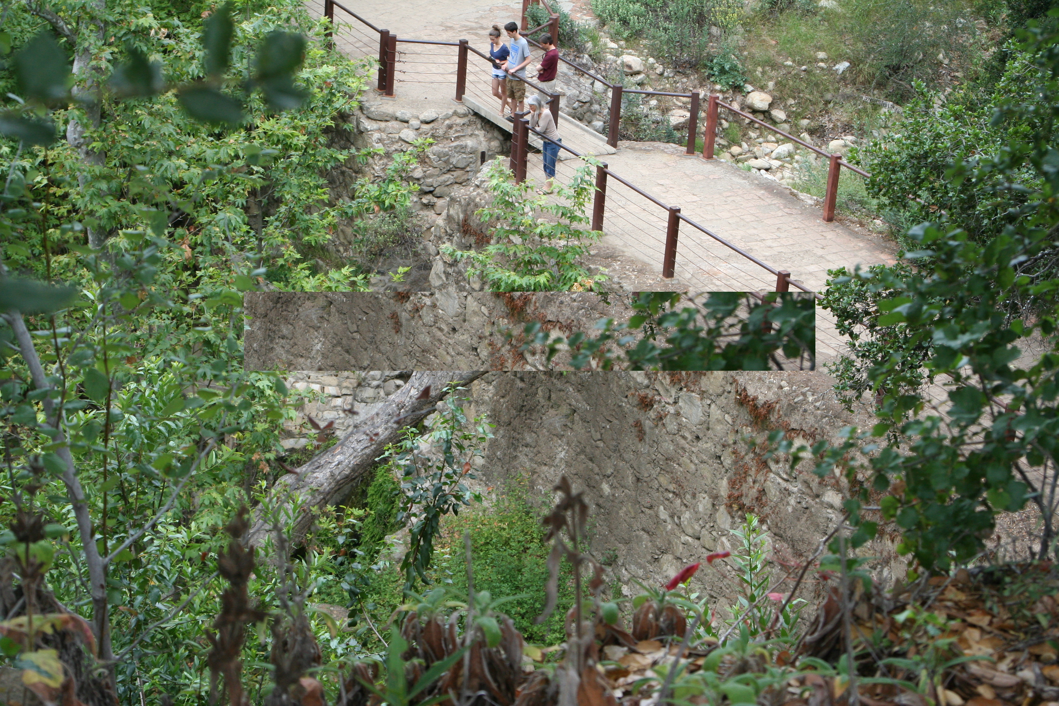 Copy of mission dam with people